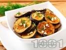 Рецепта Панирани в брашно патладжани (сини домати) на тиган с копър и чесън